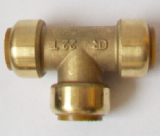 Brass Push Fit 22mm Equal Tee 22mm Fitting - 27242200
